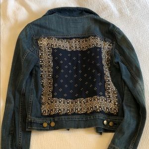 Patch Stud Detailed Jean Jacket